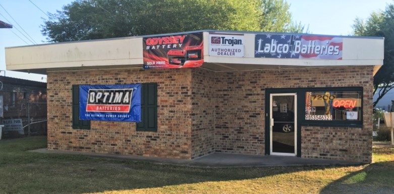 Labco Batteries. 7200 Hwy 182 East, Morgan City, La.